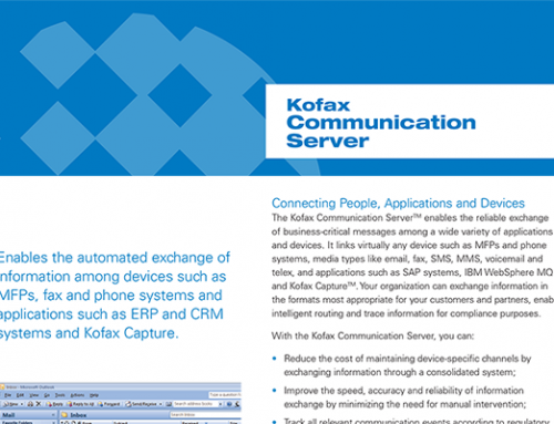 Kofax Communication Server