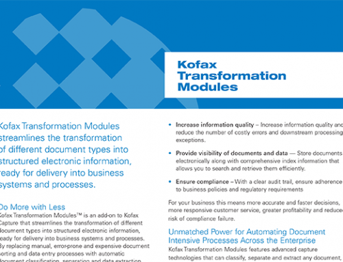 Kofax Transformation Modules